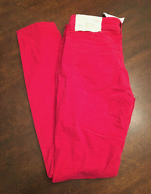 NWT Ann Taylor Loft Women's Super Skinny Low On Wait Red Denim Size 26/2
