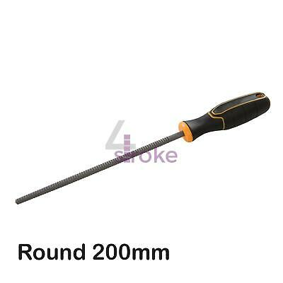 Round Wood Rasp Hardened Steel Blades / Ergonomic & Soft Grip Handle 200mm