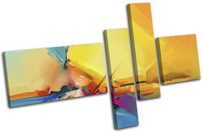 Oil Painting Abstract sea Landscapes MULTI CANVAS WALL ART Picture Print