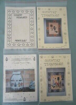1994 PATCHWORK KIT INSTRUCTION PACKS 3 x COUNTRY TREASURES-1 PICANINNI PATCHWORK