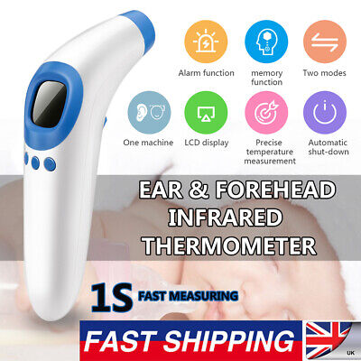 Baby Adult Body Forehead Ear No-contact Kids IR Infrared Digital LCD Thermometer