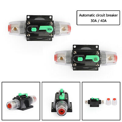 30/40A Automatic-Circuit Breaker Inline Reset Replace Fuse for Car Audio Green B