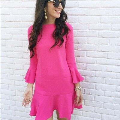 Sail to Sable hot pink peplum dress size 6 NWT