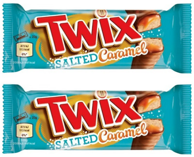 2 x Twix Salted Caramel Biscuit Twin Bars 46g
