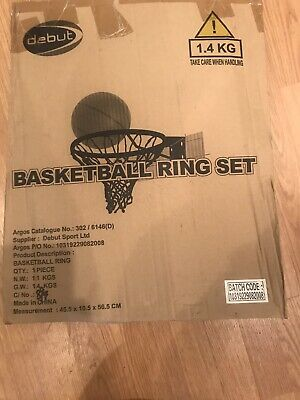 "Debut Full Size Basketball Hoop Ring Net 18"" 45cm Wall Mounted Outdoor Hanging"