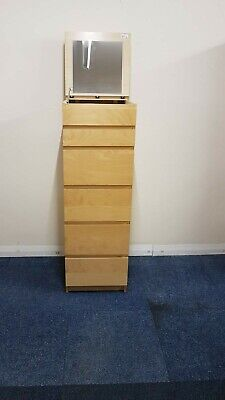 Ikea MALM Chest of 6 Drawers / Tallboy with Mirror