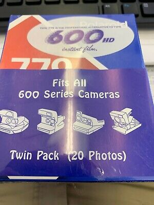 POLAROID 779 Fits 600 colorshield Instant Film 2 Pack 20 photos Expired 05/2008