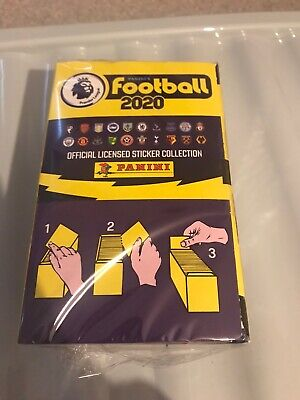 New & Sealed Panini Football 2020 Premier League Stickers Full Box 100 Packs