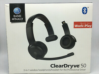 Brand New ClearDryve 50 Rand McNally 2-in-1 Wireless Headset