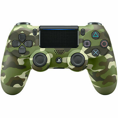 Sony Dualshock PS4 Wireless-Controller (Green Camouflage Bluetooth, PlayStation)