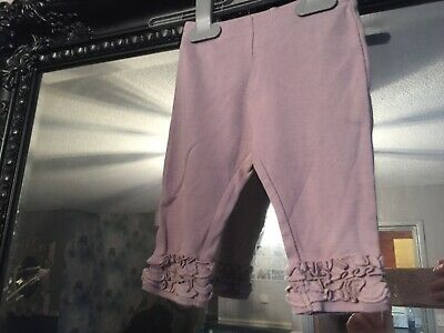 Baby Girls Next Purple Leggings Age 3-6 Months