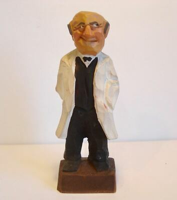 Vintage ~ Ely Hannah ~ Hand Carved / Painted Figurine ~ Doctor with Needle