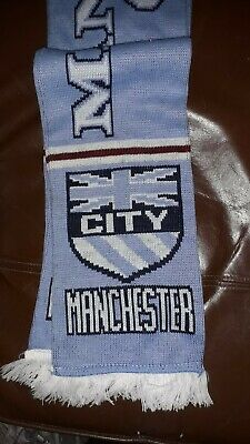 Manchester City Fc  Pale Blue Fringed Scarf
