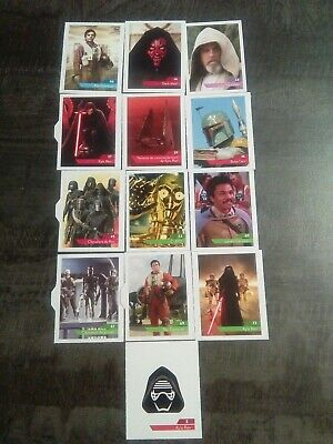 Stickers Star Wars L'ascension De Skywalker LECLERC 2019 Lot De 13