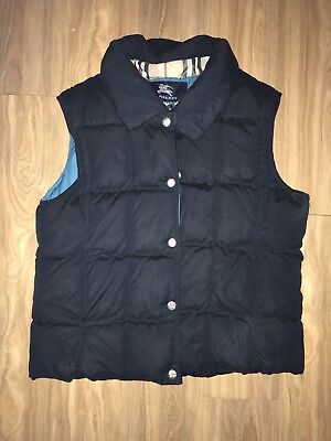 Authentic BURBERRY Girls Boys Sleeveless Top Jacket Size 12 As New Condition