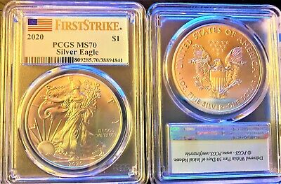 2020 $1 American Silver Eagle PCGS MS70 First Strike  only $4.25  shipping