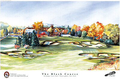 Bethpage Black Course Limited Edition Golf Art Print Signed by Artist