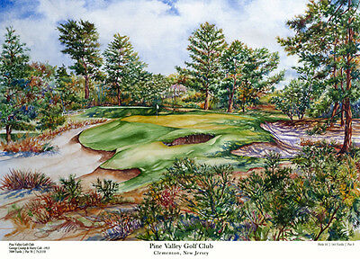 Pine Valley Golf Club - 10th hole Limited Edition Art Print Signed and numbered