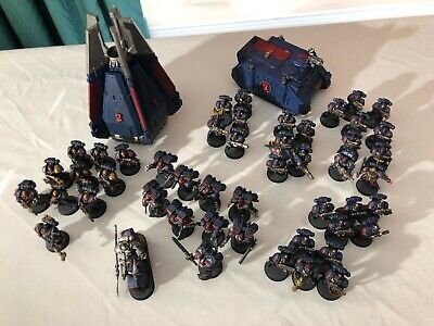 Games Workshop Warhammer 40k Space Marines Complete ArmyPainted (Crimson Fists)