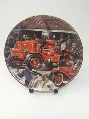 Set of 5 Franklin Mint Porcelain Collector Plates The National Fire Museum