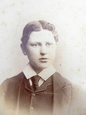 Large 1800s Victorian Cabinet Card Photograph by Hills & Saunders of  Eton