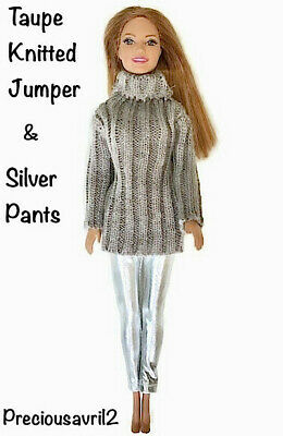 Brand new barbie doll clothes clothing outfit pants & jumper casual