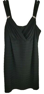 RM Richards Womens Dress Plus Size 22 Strapless Black Sleeveless Evening Formal