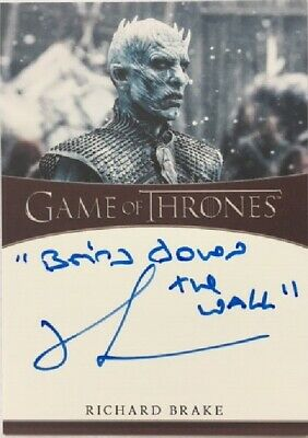 Richard Brake as the Night King Inscription Autograph, Game of Thrones Season 8