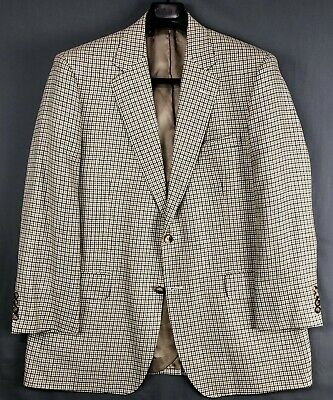 BROOKS BROTHERS 1818 Madison Tan Green Brown Check Sport Coat Jacket Blazer 43R