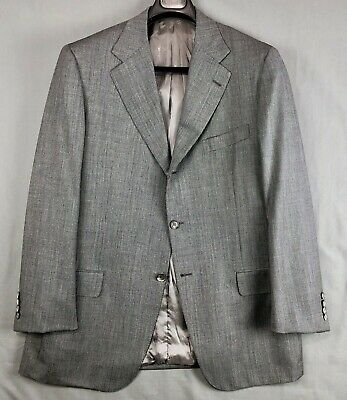 GIANLUCA ISAIA Gray  ITALY SUIT Jacket Pants 56 EUR-44R 40x27.5