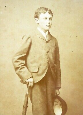 Large 1800s Victorian Cabinet Card Photograph by Tarony of Scarborough