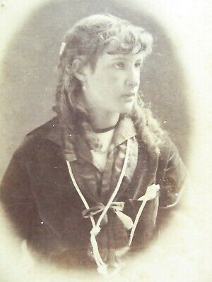 Large 1800s Victorian Cabinet Card Photograph of Miss Bessie Walford 1886