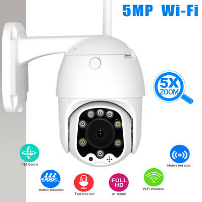 5MP 1080P HD Smart Auto Tracking IR IP PTZ Dome/PoE Wireless CCTV Home Security