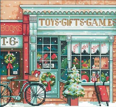 Toy Shop 14CT counted cross stitch kit. 20 x 18 cm.