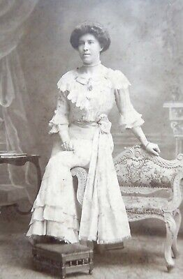 Large 1800s Victorian Cabinet Card Photograph of Belle Steel / Ms A Neil S Afric
