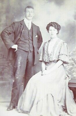 Large 1800s Victorian Cabinet Card Photograph of Skillman of London