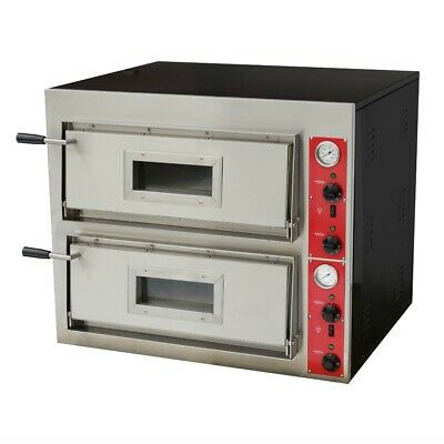 BakerMAX Germany's Black Panther Pizza Oven - Double Deck 12 X 30cm