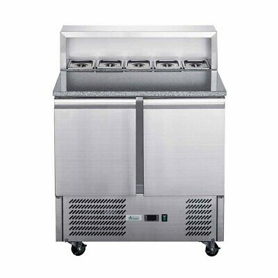 Thermaster FED-X Two Door Salad Prep Fridge with Marble Top