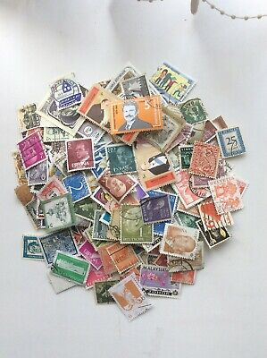 Gb Qe11 World Stamp Collection No Gb  200 ++ Taken At Random From Large Box