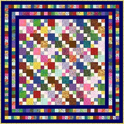 """HIGELTY PIGELTY - 69"""" - Pre-cut Patchwork Quilt Kit by Quilt-Addicts Double"""