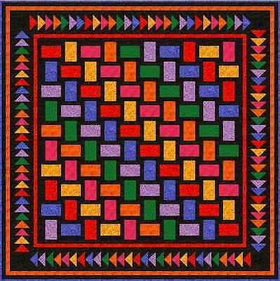 """QUAINTLY AMISH - 71"""" - Pre-cut Patchwork Quilt Kit by Quilt-Addicts Double"""