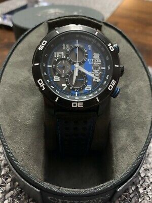 """Citizen Men's CA0467-03E """"Primo"""" Stainless Steel Eco-Drive Watch w/ Leather Band"""