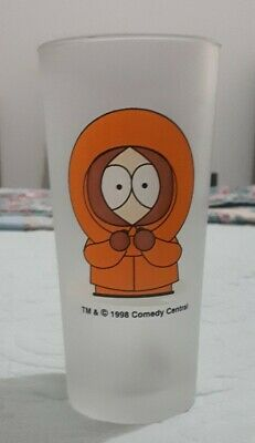 South Park 425ml Frosted Comedy Central Kenny Glass c. 1998.