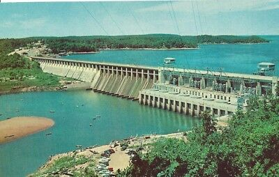 Bagnell Dam and Lake of the Ozarks Vintage Postcard