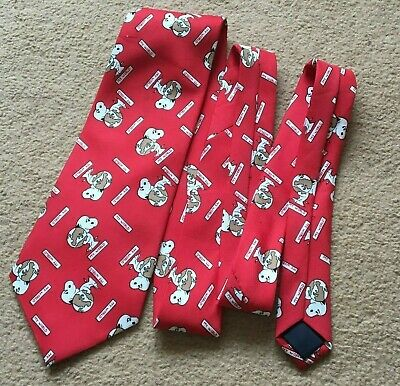 Vintage Snoopy My World Tie Peanuts Red Retro Nostalgia Gift Collectable