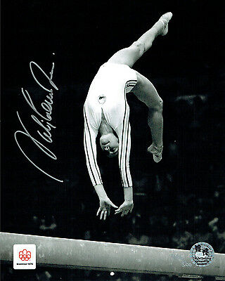 Nadia COMANECI HAND SIGNED Autograph 10x8 Olympic Perfect 10 Photo B AFTAL COA