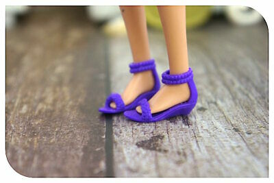 New Barbie doll clothes QUALITY SHOES 1 pair purple sandals shoes accessories