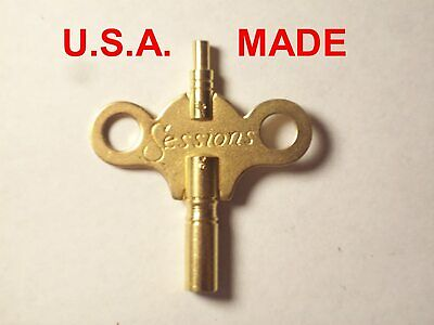 Sessions Trademark Clock Winding Key Double End #6/0000