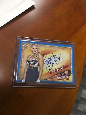 2020 Topps Wwe Road To Wrestlemania Lacey Evans Blue Auto # 17/50 A-Le