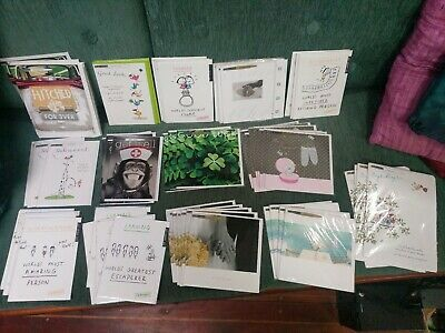 Mixed Greetings Card Bundle Joblot Retail Wholesale Shop Ready approx 60